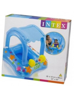 Boia infantil com cobertura Baby Float INTEX